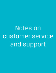 Notes on Customer Service and Support